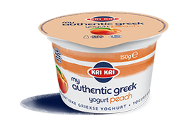 MY AUTHENTIC GREEK YOGURT 0% PÊCHE 150g