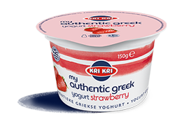 MY AUTHENTIC GREEK YOGURT 0% FRAISE 150g