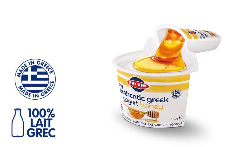 My Αuthentic Greek yogurt Yaourt Grec 2% m.g. avec du Miel 150g