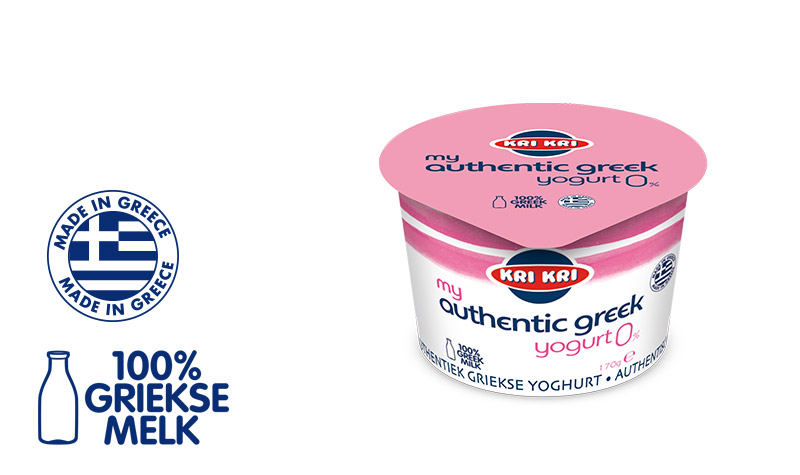 My Authentic Greek yogurt Magere Griekse Yoghurt 0% vet 170g