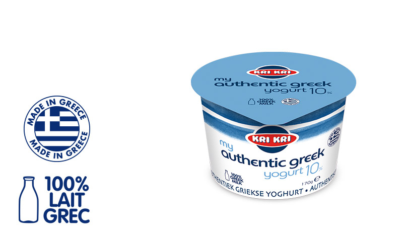 My Αuthentic Greek yogurt Yaourt Grec Entier 10% m.g. 170g