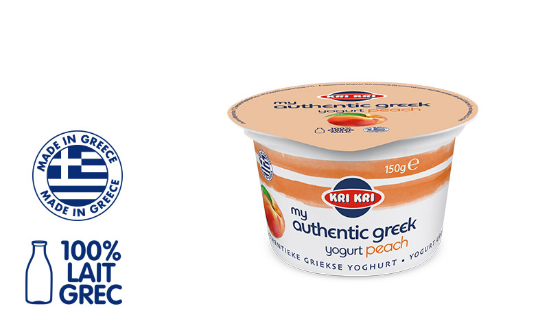 My Αuthentic Greek yogurt Yaourt Grec Maigre 0% m.g. aux Pêches 150g