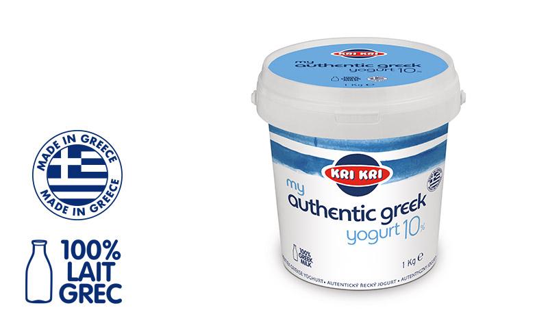 My Αuthentic Greek yogurt Yaourt Grec Entier 10% m.g. 1kg